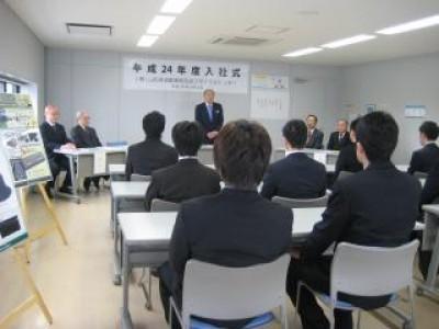平成24年度山自販リサイクルセンター入社式
